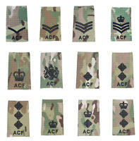 All Ranks Black on Multicam / MTP ACF Rank Slide ( Cadets Army Cadet Force
