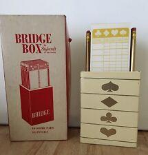 Vintage Bridge Box - 6 UNUSED Score Pads & Pencils by Stylecraft