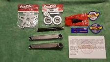 OLD SCHOOL BMX RETRO PROFILE 40TH ANNIVERSARY BOX CRANKS 175mm CHROME VINTAGE