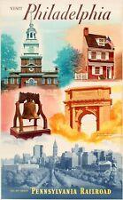 Pennsylvania Railroad - Visit Philadelphia Travel Advertising Art Poster