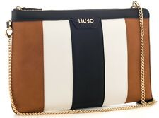 BORSA LIU JO BUSTA POCHETTE NEW CANNES N17152 BAG + TRACOLLA BRANDY WHITE BLACK
