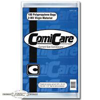"""100 - ComiCare Current 2-Mil Polypropylene Comic Book Bags - 6-7/8"""" x 10-1/2"""""""