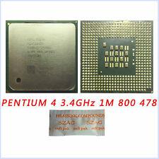 Intel Pentium 4 3.4 GHz 1M 800 MHz SL7PP/SL7E6 Processor Socket 478 Upgrade CPU