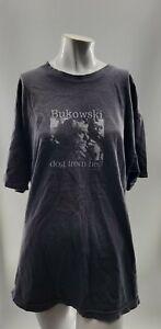 Bukowski Dogs From Hell Mens Vintage Black T Shirt XL