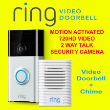Ring Video Doorbell + Chime - Motion Detected 720HD Video 2-Way Talk Camera