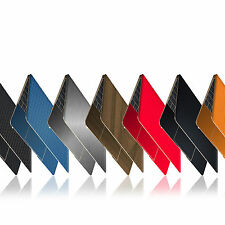 "Textured Skin Wrap Sticker For 12"" APPLE MACBOOK Carbon Decal Case Matt Metal"