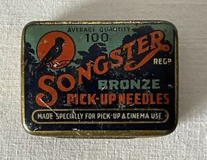 Antique Songster Bronze Pick-Up Gramophone Phonograph Needles + Some Contents