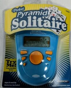 Radica Solitaire Pocket Pyramid  Solitaire Electronic Handheld SEALED NEW