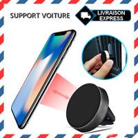 Support magnétique universel aimant aération voiture téléphone portable Noir