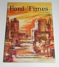 SEPTEMBER 1964 FORD TIMES MAGAZINE— GERALD HARDY DOWNTOWN CHICAGO COVER