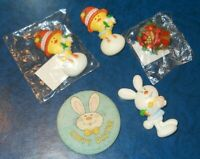 Vintage Hallmark Pins EASTER Lapel Pins Chick Bunny Basket Variety 🐰 Lot of 6
