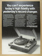 1975 Pioneer PL-71 PL71 Turntable photo vintage print Ad