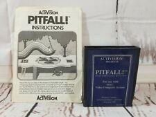 Vtg Atari 2600 Activision Pitfall Blue Label Game Cartridge with Manual Tested