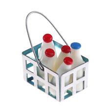 Miniature Milk Bottles & Miniature Beverages in Basket Milk bottle Kitchen Te