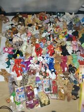 171 TY BEANIE BABIES COLLECTION LOTS OF BEARS (BEARS & ANIMALS)