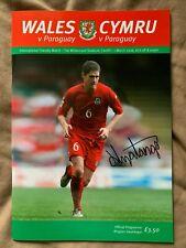 Wales Paraguay FIFA International Friendly 2006 Record Debut Signed Nyatanga