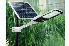 Lampione Faro Led Stradale 200W Con Staffa Pannello Solare Crepuscolare