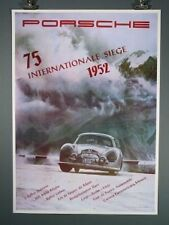 Porsche Poster 75 Internationale Seige race of 1952, Nice Large Reproduction