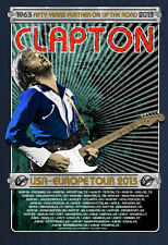 ERIC CLAPTON 2013 TOUR POSTER BLUE BY RON DONOVAN LIMITED EDITION SCREEN PRINT