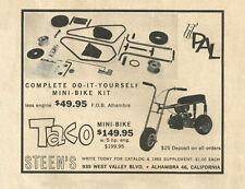 Vintage & Rare 1963 Steen's Taco Mini-Bike Ad