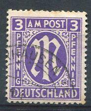 ALLEMAGNE BIZONE, 1945-46, timbre n° 2, série courante, oblitéré