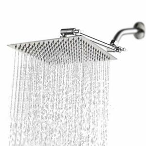 Hotel Spa 10 Inch Stainless Steel Square Rainfall Shower Head with Extension Arm