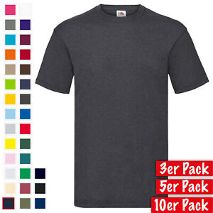 3er, 5er, 10er Pack Fruit of the Loom Valueweight T Mehrpack Herren T-Shirt