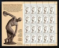 SCOTT 3087 1996 32 CENT OLYMPIC GAMES ISSUE PANE OF 20 MNH OG VF CAT $20!