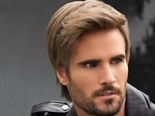 Fashion Handsome Short Straight Wig Men's Dark Brown Natural Leisure Full Wig