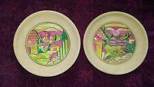 Mexican Terra Cotta POPOTILLO Wall Plates - Set of 2 - FREE SHIPPING