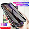 For iPhone XS MAX X 8 7 Plus 360°Full Cover Magnetic Glass Case Anti-Spy Privacy