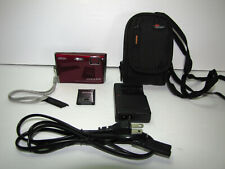 Nikon COOLPIX S60 10.0MP Digital Camera - Crimson Red Excellent Cond