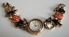 Women's Halloween Pumpkin Gold Finish Fashion Casual Party Wear Watch