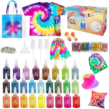 MELAND Tie Dye Kit - 26 Colours Fabric Dyeing Art Craft Set for Adults & Kids, 3