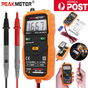 PEAKMETER PM8231 MINI Auto Range Digital Multimeter Voltmeter Professional Tool