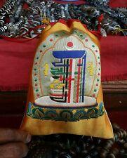 Tibetan high quality silk brocade kalachakra design Mala Bag /Jewelry Pouches