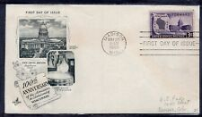 US FDC ArtCraft SC #957 WISCONSIN STATEHOOD MADISON WIS.  MAY 29  1948