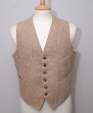 "Scottish vintage pure wool tweed staghorn buttons waistcoat vest 38"" 97cm reg."