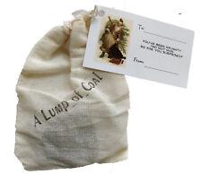 Real Lump of Coal Stocking Stuffer Gag Gift or Naughty Nice w/ Gift Card Box New