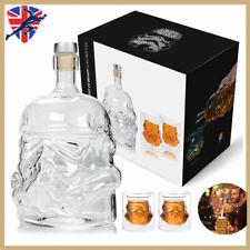 More details for 3x star wars stormtrooper glass decanter drinks for whisky sherry liquor uk hot