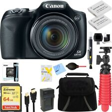 Canon PowerShot SX530 HS 16MP Digital Camera + Spare Battery Accessory Kit 64 GB