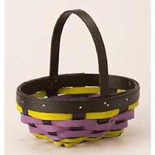 Longaberger 2016 Halloween Whatnots Booking basket & prot Black Purple Green NIH