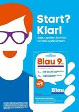 Blau.de Prepaid Karte mit 10 Euro Guthaben 10MB LTE Sim für 9 Cent Minute / SMS