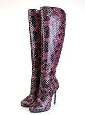$3900 New Authentic GUCCI Runway Kim Python Heel Knee Boots 36/US 6, 334138 5227