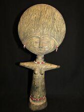 African Ghana Ashanti Asante Hand Carved Wood Fertility Doll Figurine Statuette