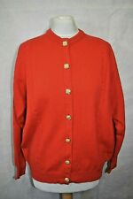 NWT Vintage Lyle & Scott Touch of Cashmere Red Lambswool Cardigan size L