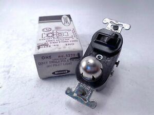 Leviton 5223 Quiet Single Pole Switch & Pilot Light, Used