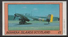 GB Locals - Bernera 2796 - 1982 AIRCRAFT of WW2  imperf souvenir sheet  u/m