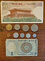 "Unique set of 11 Israeli coins & banknotes ""Lira & Agora"" 1958-1980"