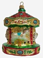 Merry Go Round Carousel Polish Glass Christmas Ornament Holiday Tree Decoration